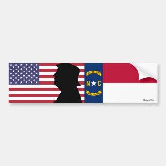 Nord-Carolina für Trumpf-Autoaufkleber Autoaufkleber