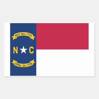 Nord-CarolinaStaats-Flaggen-Aufkleber - 4 pro Rechteckiger Aufkleber