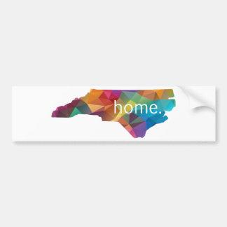 Nord-CarolinaZuhause niedrig Poly Autoaufkleber