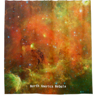 Nordamerika-Nebelfleck-Duschvorhang Duschvorhang