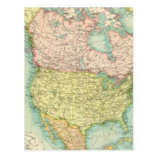 Nordamerika politisch postkarte
