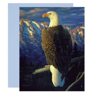 Nordamerikanisches Weißkopfseeadler-Himmel-Blau Karte