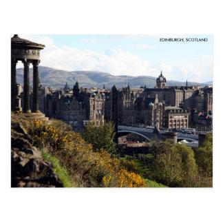 Nordbrücke, Edinburgh-Postkarte mit Stadt Postkarte