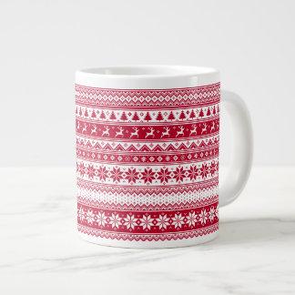 Nordic - skandinavische WeihnachtsTasse Jumbo-Tasse
