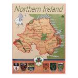 Nordirland Retro Postkarten