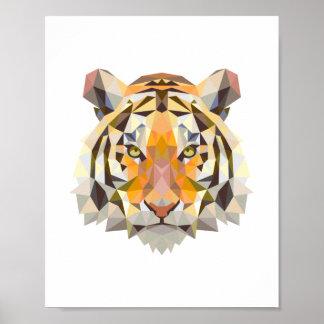 Nordischer geometrischer Tigerentwurf Poster