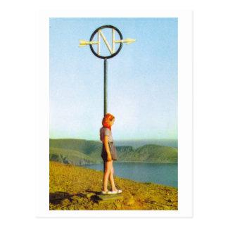 Nordkap, nördlichster Punkt des Festlands Europa Postkarte