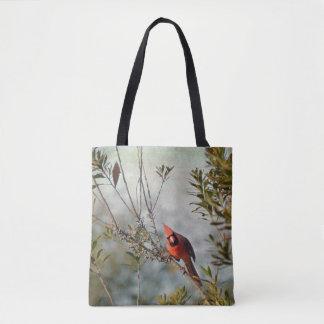 NordKardinal in der Wachs-Myrte-Taschen-Tasche Tasche