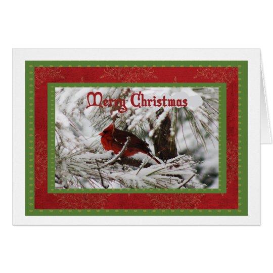 NordKardinals-männliche Weihnachtskarte Grußkarte