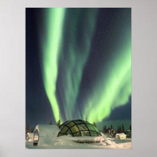 Nordlichter über Finnland Poster