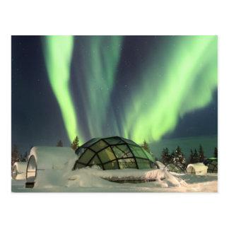 Nordlichter über Finnland Postkarte