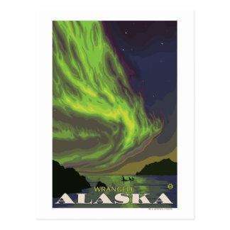 Nordlichter und Schwertwale - Wrangell, Alaska Postkarte