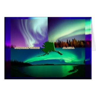 Nordlichter von Alaska-Collage Karte