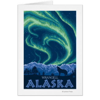 Nordlichter - Wrangell, Alaska Karte