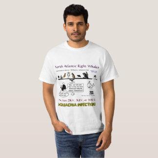 Nordrechte Wale atlantiks können durch Rose haben T-Shirt