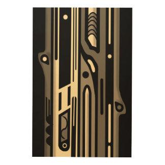 NORDWESTar-DEKO MONO durch Slipperywindow Holzdruck