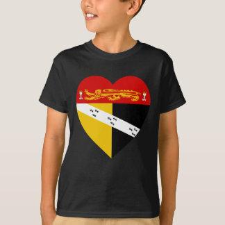 Norfolk-Flaggen-Herz T-Shirt
