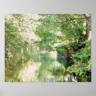 Norfolk-Fluss-Szene Poster