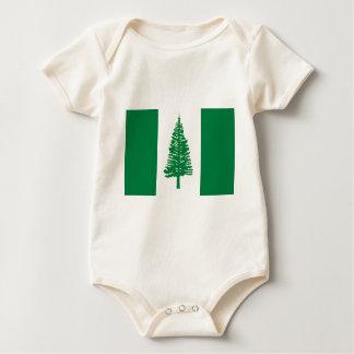 Norfolk-Insel-Flagge Baby Strampler