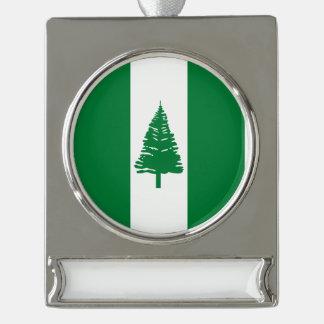 Norfolk-Insel-Flagge Banner-Ornament Silber