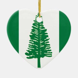 Norfolk-Insel-Flagge Keramik Ornament