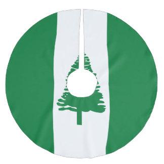 Norfolk-Insel-Flagge Polyester Weihnachtsbaumdecke