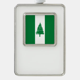 Norfolk-Insel-Flagge Rahmen-Ornament Silber