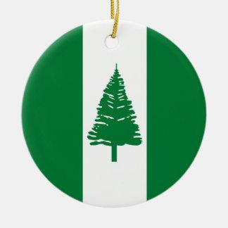 Norfolk-Insel-Flagge Rundes Keramik Ornament