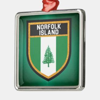 Norfolk-Insel-Flagge Silbernes Ornament