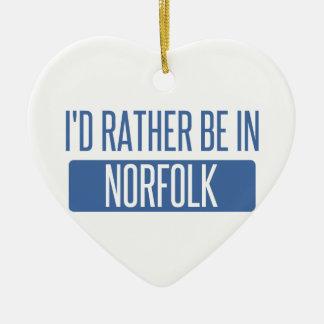 Norfolk Keramik Herz-Ornament