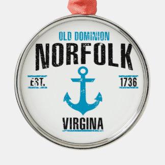 Norfolk Silbernes Ornament