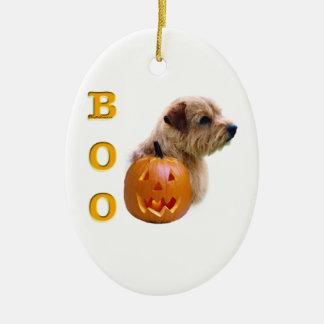Norfolk Terrier Halloween Boo Keramik Ornament