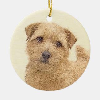 Norfolk Terrier Keramik Ornament