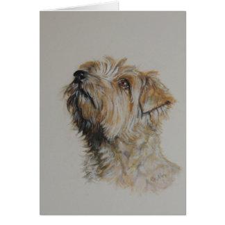 Norfolk-Terrier, Wasserfarbemalerei, fertigen Grußkarte