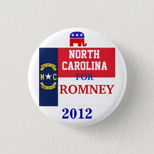 North Carolina für Romney 2012 Runder Button 3,2 Cm