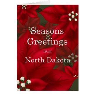 North- Dakotapoinsettia-Frohe Festtage Karte