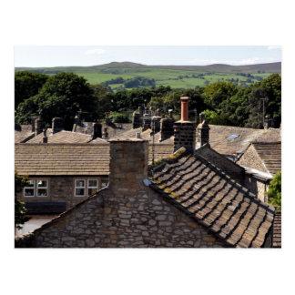 North Yorkshire-Dachspitzen Postkarte