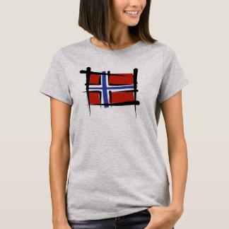 Norwegen-Bürsten-Flagge T-Shirt