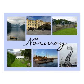 Norwegen-Collage Postkarte