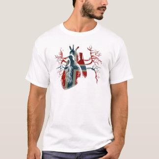 Norwegen-Flagge im wirklichen Herzen T-Shirt