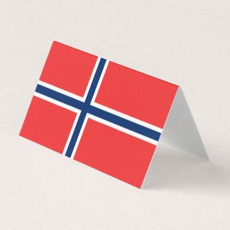 Norwegen-Flagge Karte