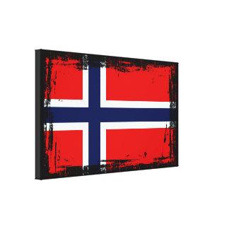 Norwegen-Flagge Leinwanddruck