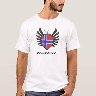NORWEGEN-FLAGGE MIT ART T-Shirt