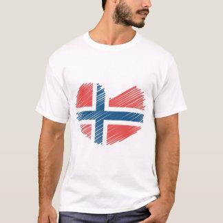 Norwegen-Flaggen-Herz T-Shirt