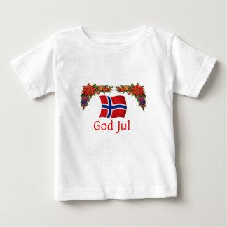 Norwegen-Weihnachten Baby T-shirt