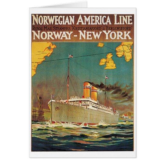 Norwegische amerikanische Linie Grußkarte