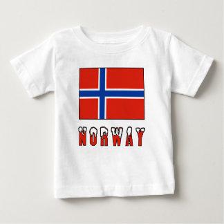 Norwegische Flagge und Norwegen Baby T-shirt
