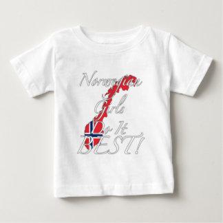 Norwegische Mädchen tun es Bestes! Baby T-shirt