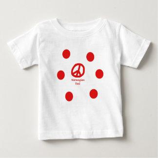 Norwegische Sprache und Friedenssymbol-Entwurf Baby T-shirt