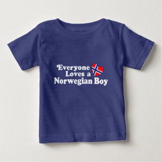 Norwegischer Junge Baby T-shirt